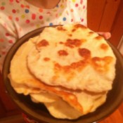 A plate of homemade flour tortillas