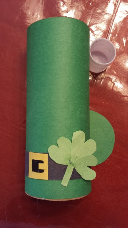 St. Patrick's Day Toilet Paper Tube Hats