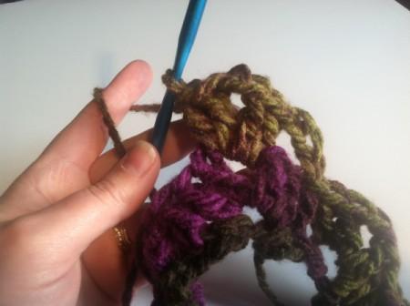 Fan Pattern Crocheted Cowl