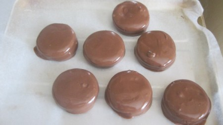Chocolate Covered Peanut Butter Cracker Sandwiches