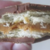 view of inside of cracker sandwich