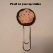 Donut Felt Paperclip Bookmark