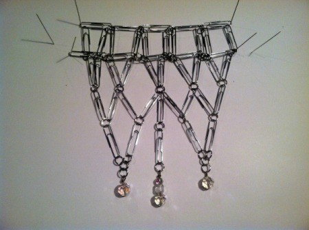Paperclip Statement Necklace