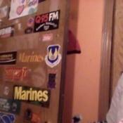 stickers on door
