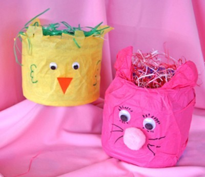 Last Minute Easter Egg Basket for Kids