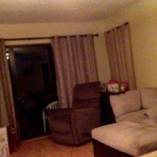 windows, recliner, and couch