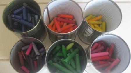 Make a Rainbow Crayon from Broken Pieces