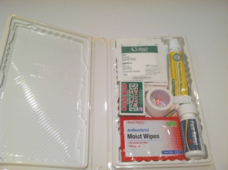 inside of kit with supplies