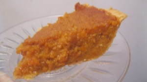 slice of pie on glass plate