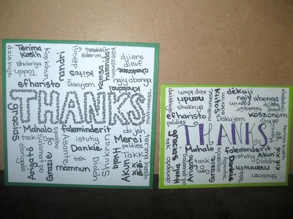 Image result for thank you cards home made