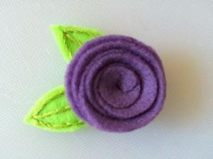 Spiral Felt Flower