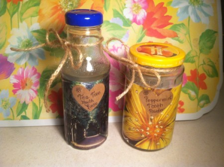 Homemade Mouth Rinse and Tooth Powder