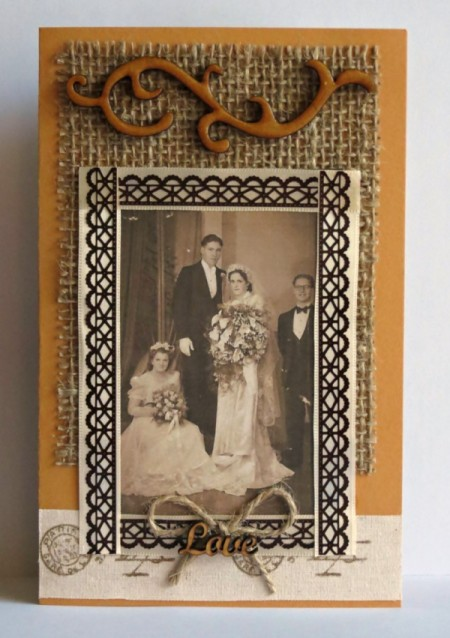 Rustic Country Wedding Invitation - finished card