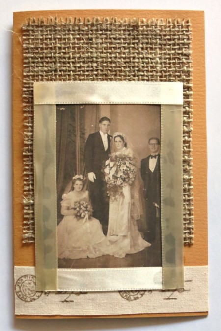Rustic Country Wedding Invitation - adding vintage photo to card
