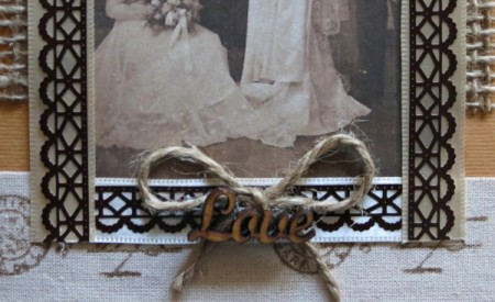 Rustic Country Wedding Invitation - bottom of card close up