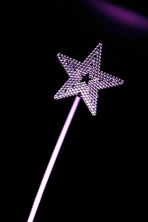 star shaped magic wand
