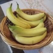 A bowl of separated bananas.