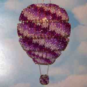 decorative hot air balloon made from safety pins