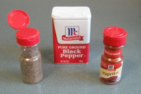 Place black pepper in an old paprika container.