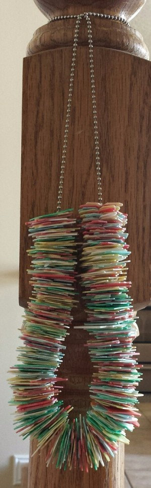 Bread Package Clip Necklace - ball chain and bread package clip necklace