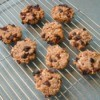 Healthy cookies on a cooling rack.