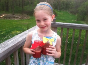 girl with jars