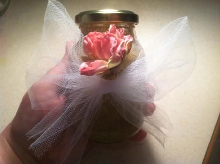 finished jar of scrub