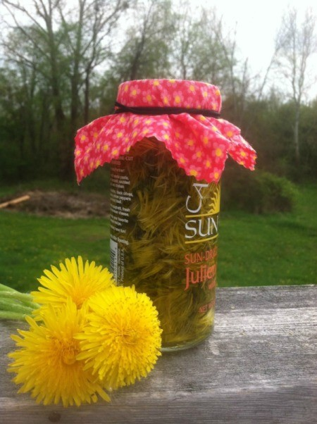 blossoms and jar of