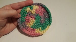 variegated yarn coaster