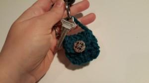 finished crochet purse