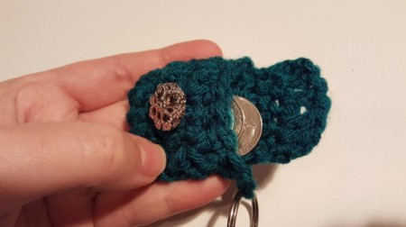 Crochet Keychain Mini-Coin Purse