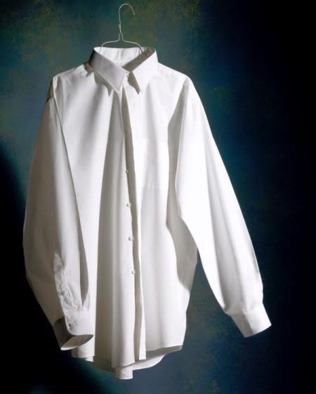 A crisply ironed white shirt.