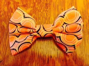 finished clip on bow