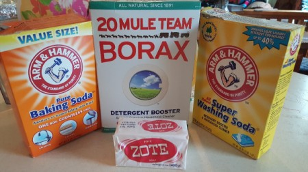 Homemade Powdered Laundry Soap - soap ingredients