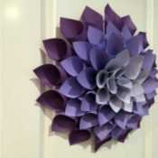 Variegated purple paper dahlia.