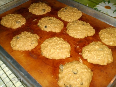 cookies on tray