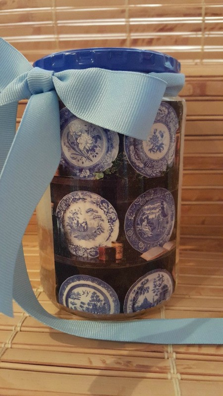 decorated jar of detergent