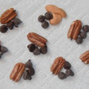 Chocolate chips and nuts
