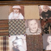 Closeup of Fabric and Photo Wall Display 2