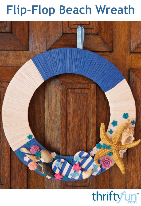 Flip Flop Beach Wreath Thriftyfun