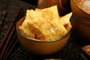 bowl of pita chips