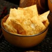 bowl of pita chips