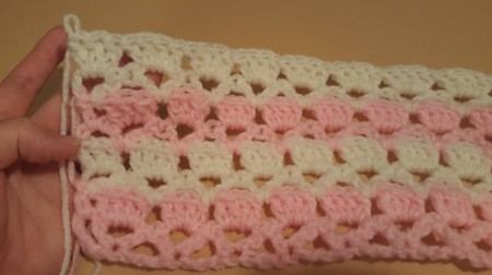 Lacy Crocheted Baby Blanket