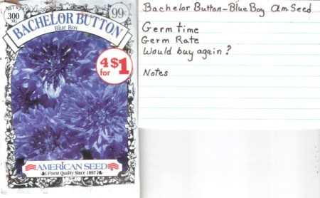 A seed packet to store gardening notes