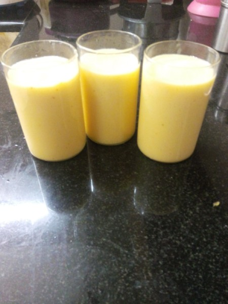glasses of smoothie