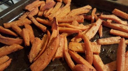 fries on pan