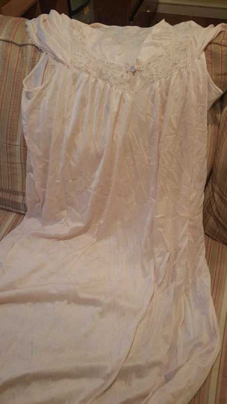 Making a Slip From An Old Nightgown