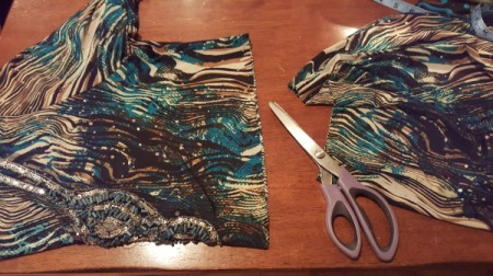 Re-purposed Dress - cutting the blouse