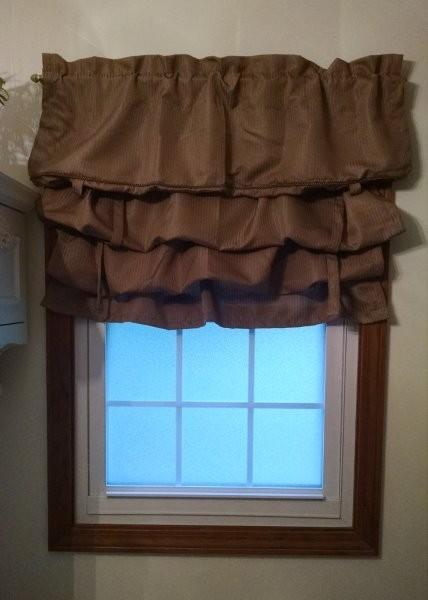 bathroom window with valance