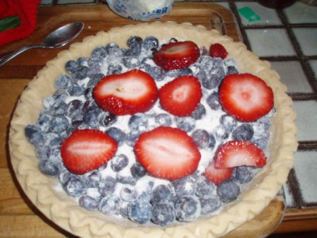 Fourth of July Pie - filled pie